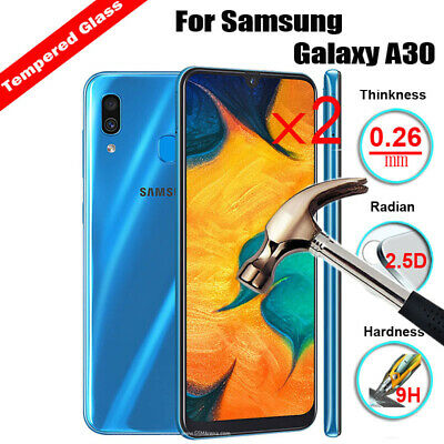 2Pcs Premium Tempered Glass Slim Screen Protector for Samsung Galaxy A10 A30 A50