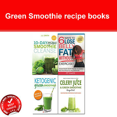 Green Smoothie Recipe books set 6 Ways to Lose Belly Fat, Celery Juice Ketogenic