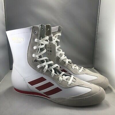 New Adidas Box Hog x Special Boxing Shoes Cloud White//Red AC7148 $120