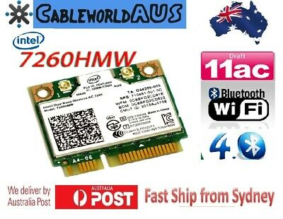 Intel Dual Band Wireless AC 7260HMW Internal Wifi Card + Bluetooth 4.0 867Mbps
