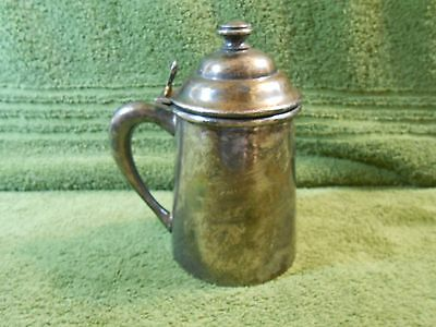 Vintage Wm A Rogers Quadruple Silverplate 1852 1 Pint Syrup Pitcher Hinged Lid