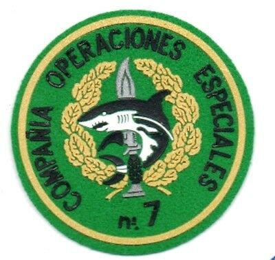 parche COMPAÑIA OPERACIONES ESPECIALES 7 COES , spain special forces patch