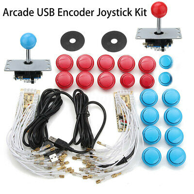 Kit 2x Joystick Arcade + 20 botones + 2 Player USB Controlador DIY Encoder Juego