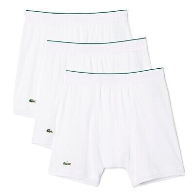 Lacoste NEW Men's 3 Pack Boxer Brief - White BNWT