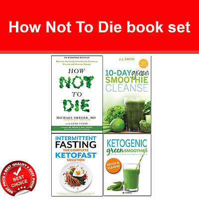 How Not To Die books set 10-Day Green Smoothie Cleanse, Intermittent Fasting NEW