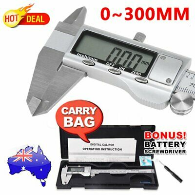 0-300mm Electronic Digital Vernier Caliper Stainless LCD Gauge with Case AUS
