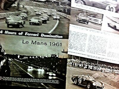 LE MANS 1961 - 24 HOURS of FERRARI DOMINATION - Report taken from The AUTOCAR