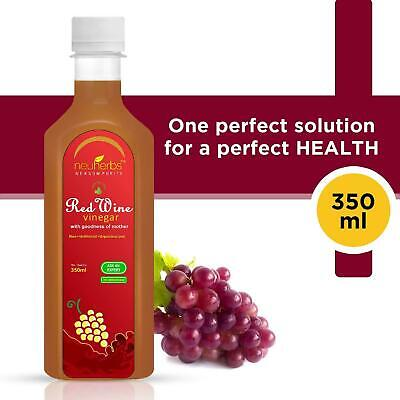 Neuherbs Red Wine Vinegar with the Mother, Raw and Unfiltered 350 ml