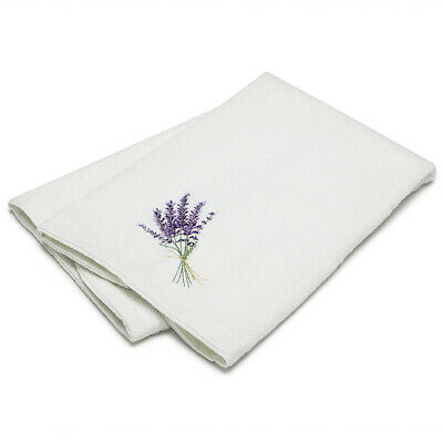 NEW Pilbeam Embroidered Hand Towel Lavender Bouquet