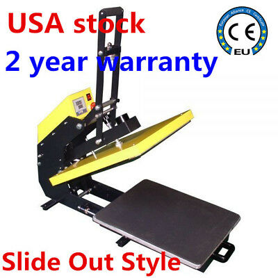 """US-16"""" x 20"""" Clamshell T-shirt Heat Press Machine Auto Open + Slide Out Style"""