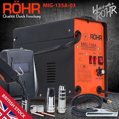 MIG Welder Gasless Inverter 240V / 135 amp / AC No-Gas Welding Machine - ROHR 03