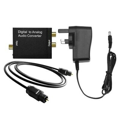 Optical Coaxial Toslink Digital - Analog-Audio Converter Adapter RCA L/R 3.5mm