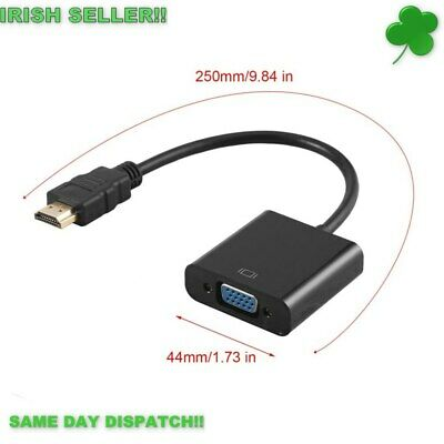HDMI To VGA Adapter HD Video Converter Cable HDMI Male to VGA Female Adapter