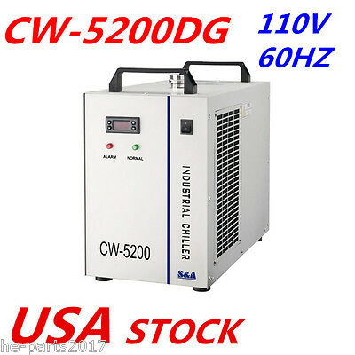 110V S&A Industrial CW-5200DG Air Water Chiller for 130W / 150W CO2 Laser Tube