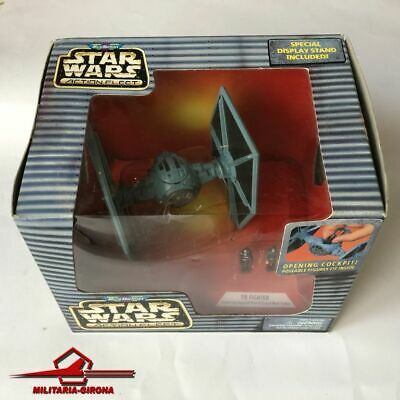 STAR WARS ACTION FLEET TIE FIGHTER 1996 w/ 2 Figures Imperial Pilot Moff Tarkin