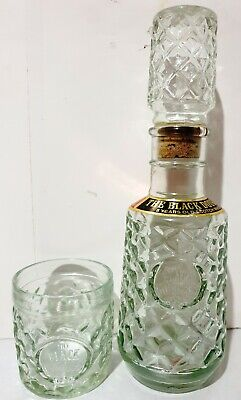 Vintage THE BLACK DOUGLAS 8 Year Old Scotch Whisky DECANTER Bottle & Glass [3]