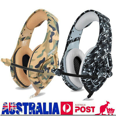 3.5mm Surround Stereo Pro Gaming Headset Headband Headphone MIC for PSP PC Q8W8