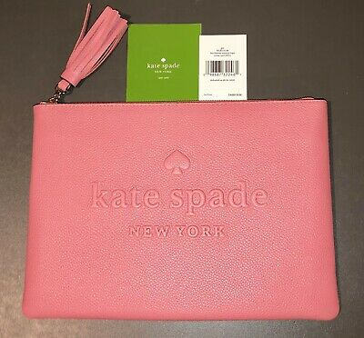 8e8b6d387 Kate Spade GIA Larchmont Avenue CORAL Large Clutch Purse - JUST LAUNCHED!  NWT