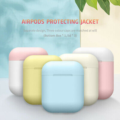 3 Colors Cover AirPods Silicone Case Protective Skin For Apple Airpods Charging