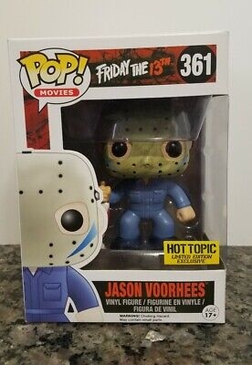 Pop Funko Movies Hot Topic Jason Vorhees 361 Friday The 13Th Limited Edition
