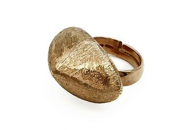 Dijous Italy Modern Rose Gold Ring Size 5, 18Kt Gold Plated Bold Adjustable Ring