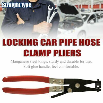 Locking Car Pipe Hose Clamp Pliers Fuel Coolant Clip Curved Throat Tube Plier QR
