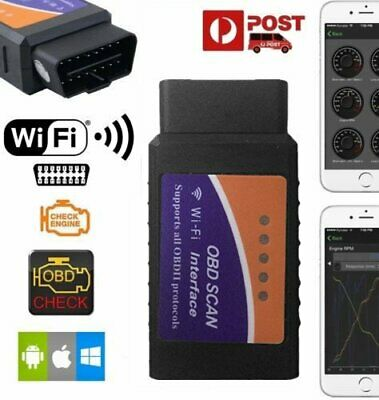 Wifi/Bluetooth OBD2 OBDII Car Diagnostic Scan Tool Scanner for iPhone Android A
