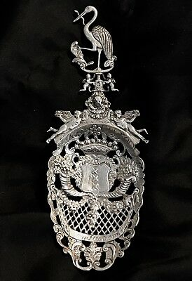 Antique Dutch Silver Spoon Fron 1820Th. Large Hand Made Magnificent, Marked.