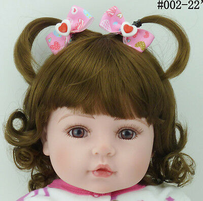 "22"" Reborn Toddler Baby Girl Doll Silicone Vinyl Likelife Newborn Toys Kids Gift"