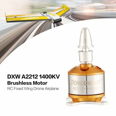 DXW A2212 1400KV 2-4S Outrunner Brushless Motor for RC Fixed Wing Airplane NV