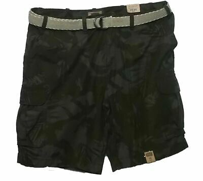Mens Cotton Cargo Shorts Utility Belted Pockets Colors Washed Lounge Hiking NEW