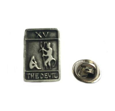 Tarot Card The Devil Pin Badge. Fine English Pewter. Gift Pouched.