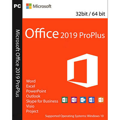 Microsoft Office 2019 Pro Plus 32/64 Bit Codice Originale Licenza Download Link