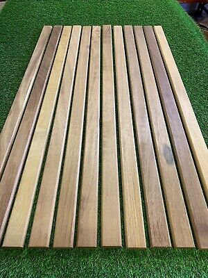 Groovy Diy Materials 12 Iroko Garden Bench Slats 53Mm X 21Mm Machost Co Dining Chair Design Ideas Machostcouk
