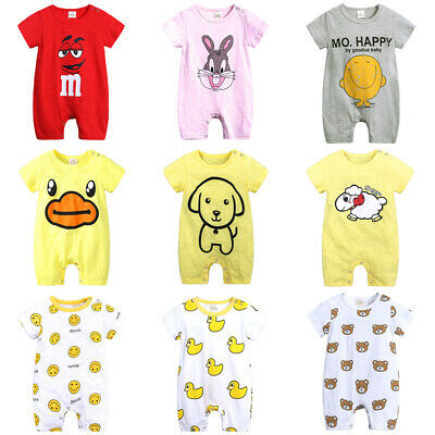 Cute Newborn Toddler Baby Boy/Girls Sleeve Romper Jumpsuit Summer Clothes Outfit