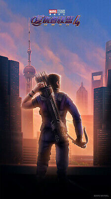 RARE POSTER: hawkeye AVENGERS ENDGAME chinese 2019 REPRINT 27x41