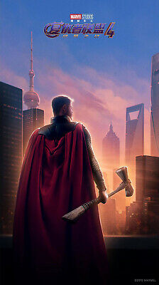RARE POSTER: thor AVENGERS ENDGAME chinese 2019 REPRINT 27x41