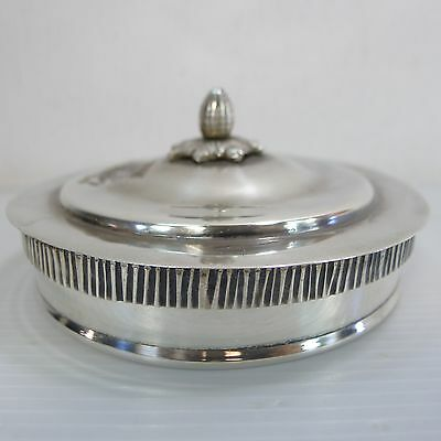 A Lovely Round Lidded Hallmarked And Stamped 925 Solid Silver Vintage Box