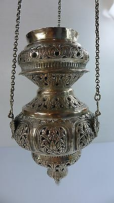 A Rare And Beautiful Antique/vintage Silver Islamic Lamp/decoration
