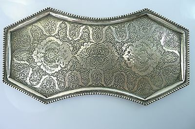 A Stunning Highly Decorated Solid Silver Islamic ? Tray