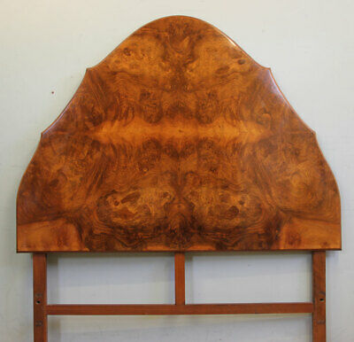 Antique Burr Walnut King Size Bed Headboard Queen Anne Style