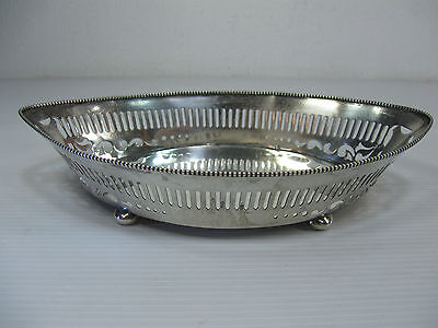 An Old Boat Shaped Dish/Tray Sterling Silver & Hallmarked Shreve,Crump&Low Co.
