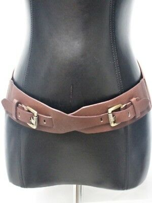 WOMEN ELASTIC Leather BUCKLE WAIST HIP WIDE BELT Stretch Vintage Western Fashion