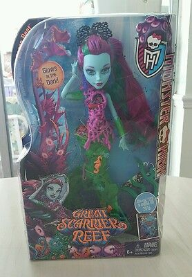 VHTF Monster High Great Scarrier Reef Posea Reef doll! BNIB RARE!