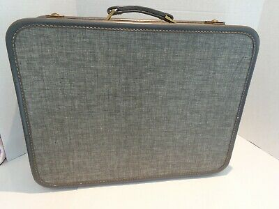 Vintage Gray Heathered American Tourister Suitcase for Display