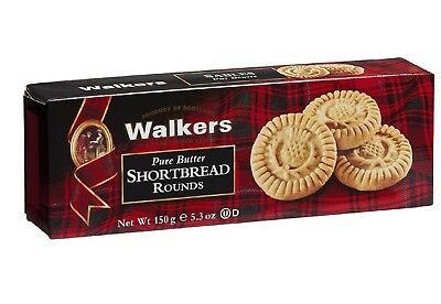 Walkers Pure Butter Shortbread Thistle Rounds 150g - Made in Scotland