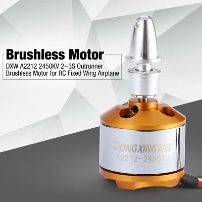 DXW A2212 2450KV 2-3S Outrunner Brushless Motor for RC Fixed Wing Airplane CA