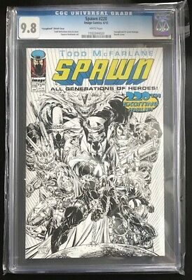 Spawn 2012 220 CGC 9.8 1:50 Youngblood Homage McFarlane Cover B&W Sketch Variant