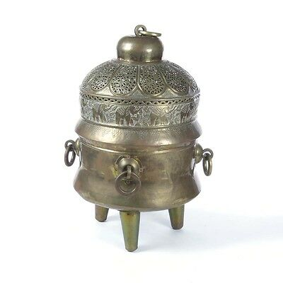 Antiques Censer Lampatka Icon Lamp Desk Imperial Russia Orthodox Church Brass