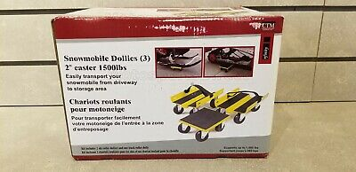 Ctm 1500Lbs 2 Inch Caster Snowmobile Dollies Set Of 3Snd152Yel